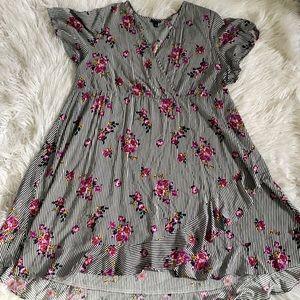Striped Floral Torrid Dress